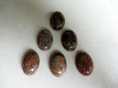SCENERY AGATE (NATURAL) CALIBRATED OVAL GEMSTONE CABOCHON 25X18X8MM